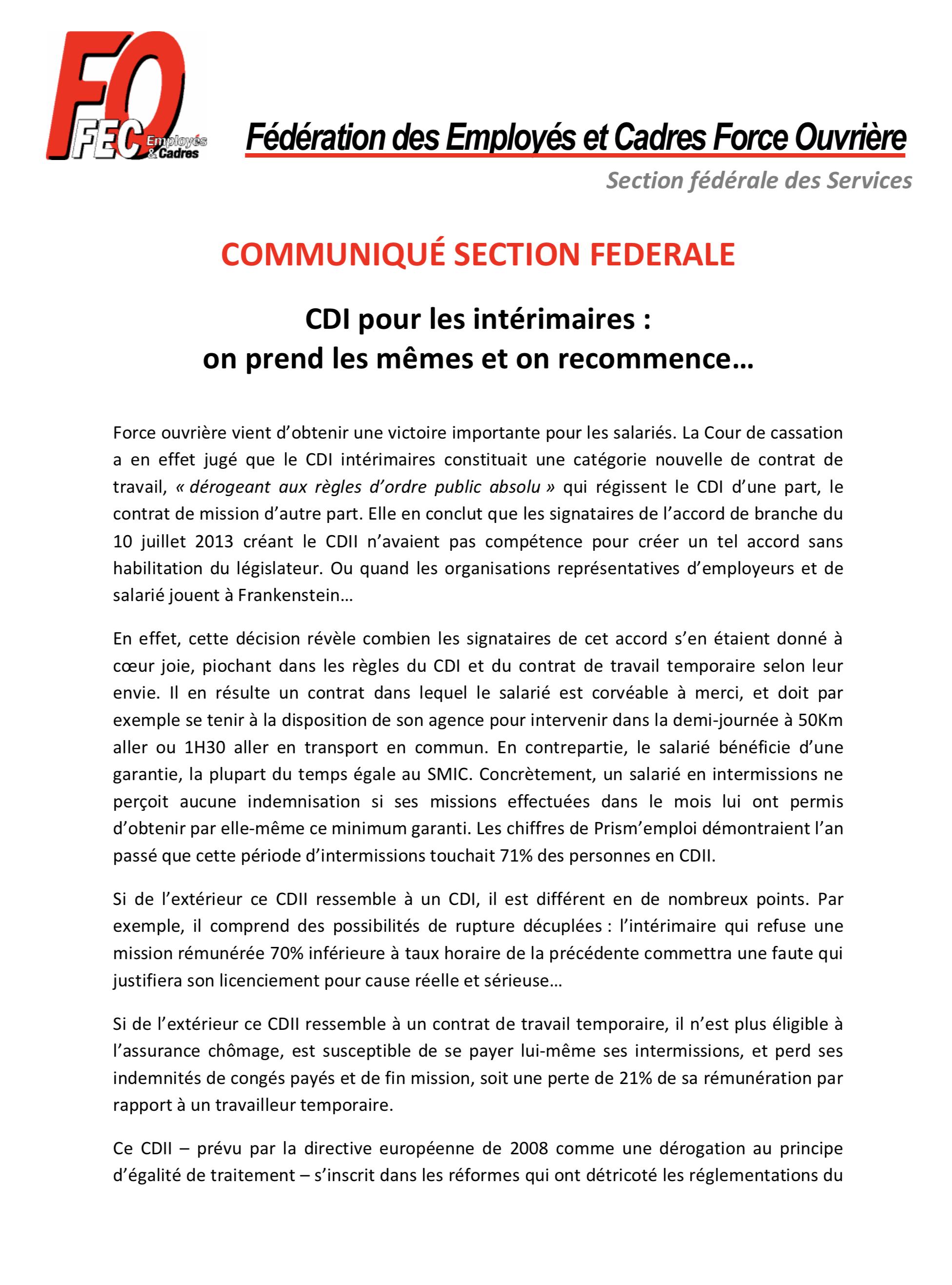 Fo A Negocie Et Est Signataire