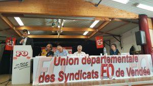 Intervention de l'intérim lors de l'AG de l'UD FO Vendée le 3 octobre 2019